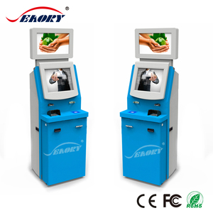 19'' touch screen automatic ticket vending kiosk machine with receipt printer