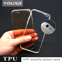 China factory transparent mobile phone case,0.7mm TPU case phone back cover