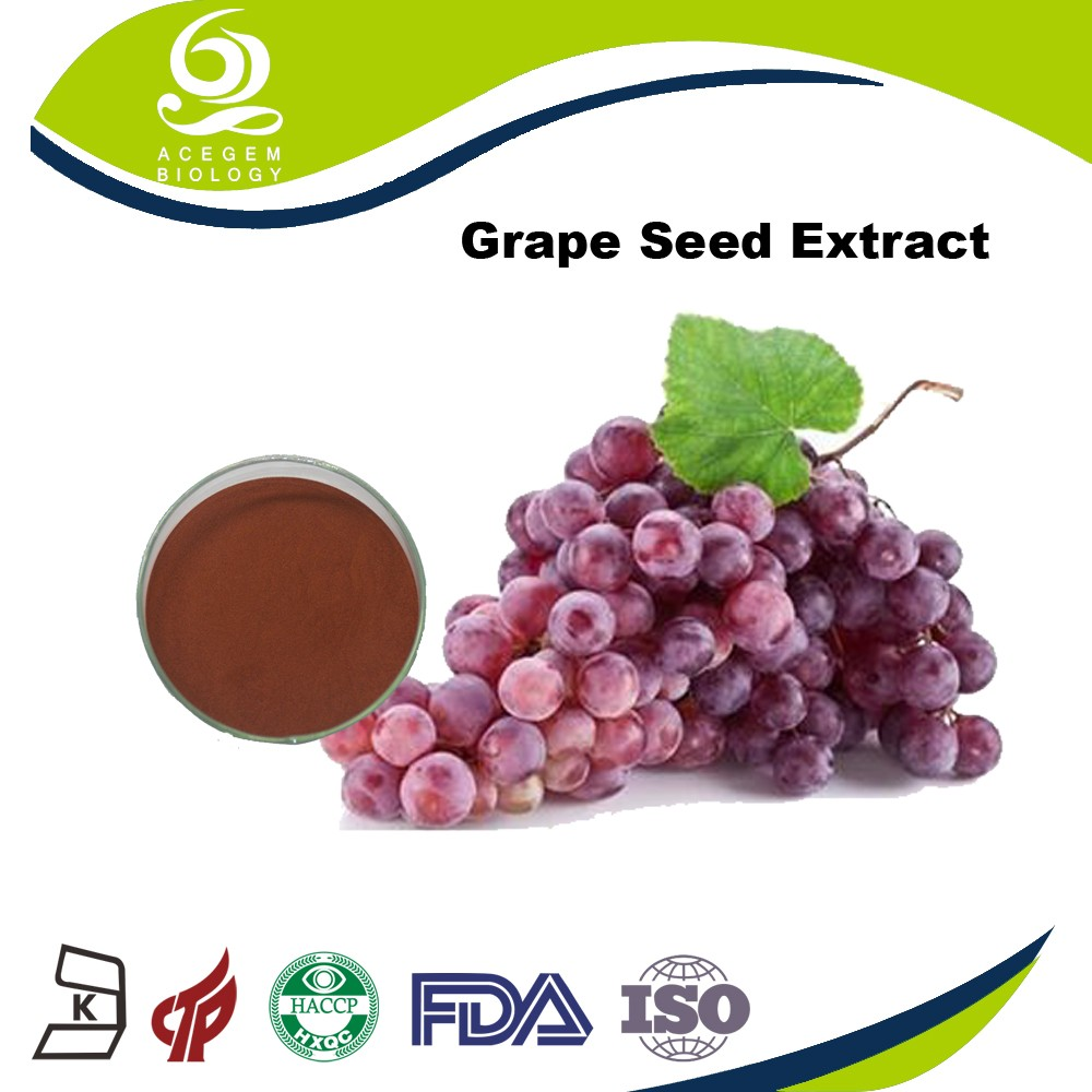 100% Pure Natural Grape Seeds Extract with Proanthocyanidins OPC Pills