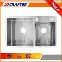 2016 Innovative product kitchen furniture stainless steel double bowl custom big sink