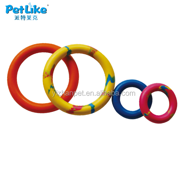 rubber circle floating toy large and small stretch rubber toy New 2016 online shopping dog cat pet China supplier