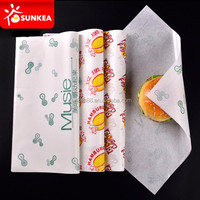 Custom printed wrapping food greaseproof paper for food