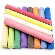 Non-Toxic White Dustless Blackboard Chalk (12 Piece) and Colored Dustless Chalk (12 Piece) Bundle Eco-friendly Chalkboard Chalk