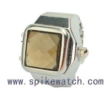 Stone ring watch amber color time watches