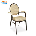 wholesale cheap price steel dome hotel banquet dining chair arm