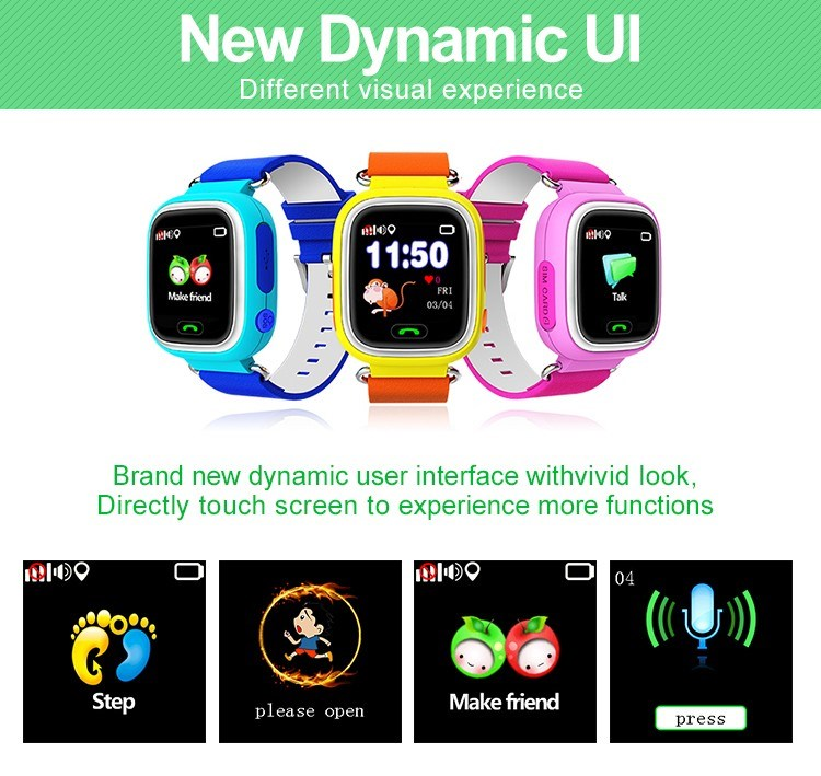 Smart Kid Wrist Watch Anti-lost Kid Watch Locator Tracker SOS key children watch
