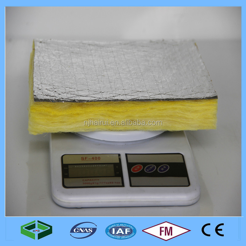 High Density Soundproof Glass Wool Board with Aluminum Foil