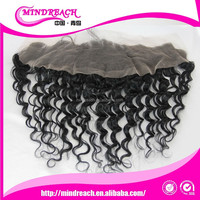"MR hair,top sale wholesale price full cuticle 12"" deep wave brazilian lace frontal closure 13x4"