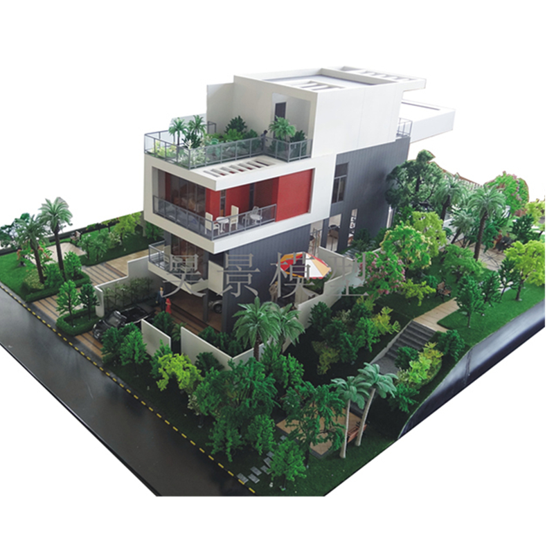 Beautiful High- quality villa house model by building model maker