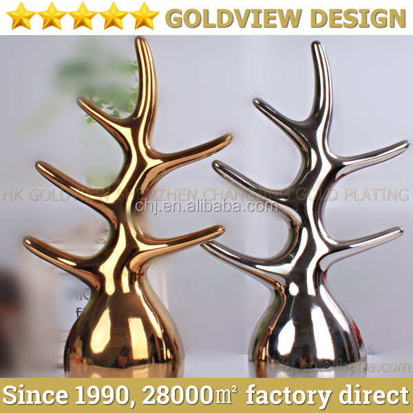 Golden and Silver tree Ceramic China Home Decor Wholesale,fashion and modern home decor