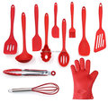 Utensils Set, 12-Piece Complete Silicone Baking & Cooking Kitchen Tools Set