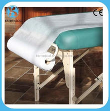 Nonwoven disposable surgical bed sheet in roll or pieces from factory directly