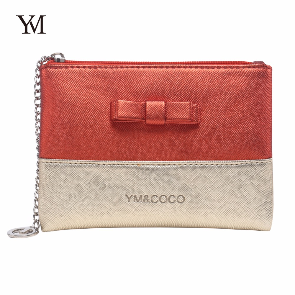YM&COCO cute pouch hot selling new product bowknot costomized makeup clutch wholesale toiletry bag for <strong>travel</strong>