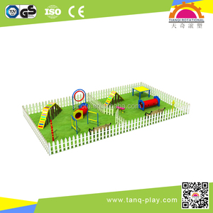 colorful outdoor playground game group with PET ( DOG)