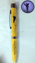 metal ball pen high quality with projector,promotional pens with custom logo,Light ball torch pen,,