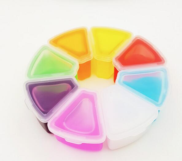 New 3D Fruit Slime 8 Colors DIY Crystal Jelly Clay Rubber Mud Intelligent Hand Gum Plasticine Toy Gift