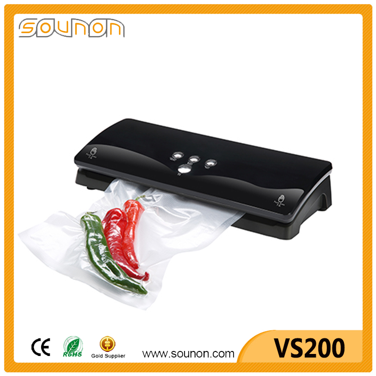 Household electronic vacuum food sealer with easy touch button and different colors,vacuum preservation system