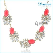 Fashion New Design Crystal Gold Plated Necklace Jewelry Trends 2014 crystal necklace jewelry