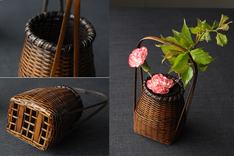 Handmade different kinds of bamboo craft making