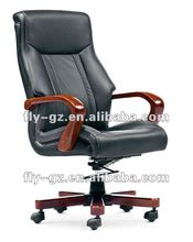 2012 leather cover solid wooden frame office executive chair,manager chair
