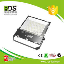Aluminum portable 120lm/w ip66 200w outdoor lighting led flood light