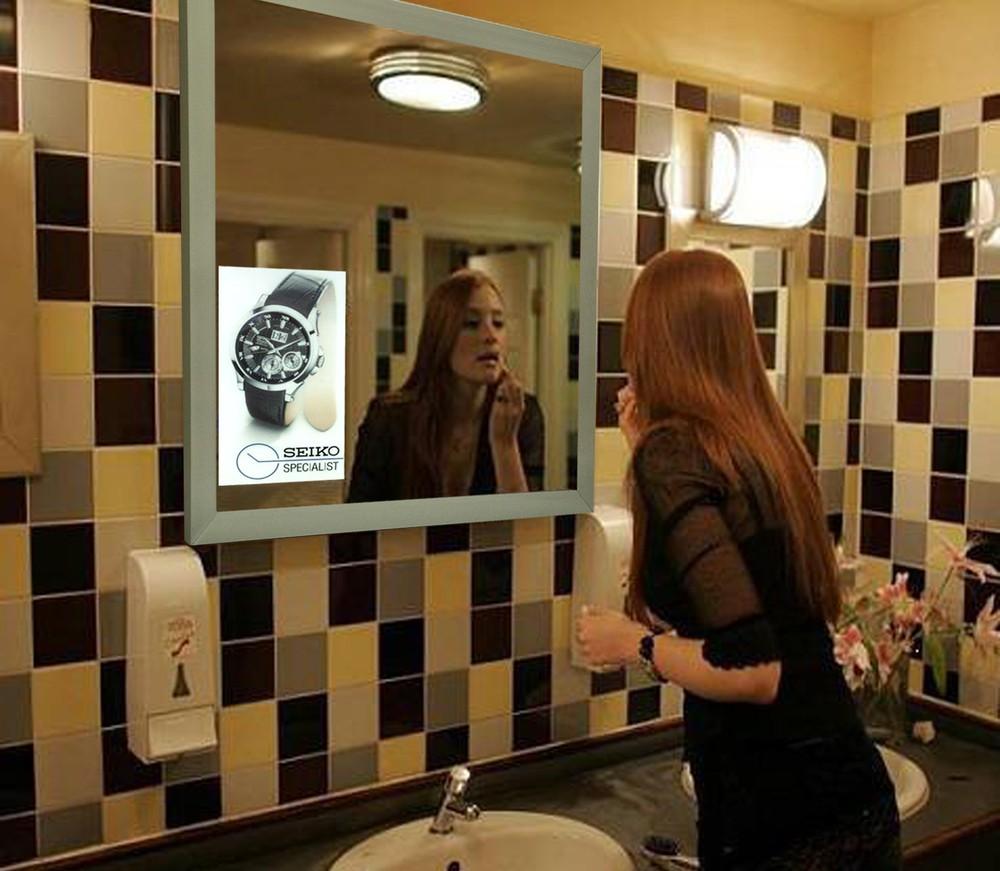 Salle de bains toilettes publicit miroir intelligent for Miroir intelligent
