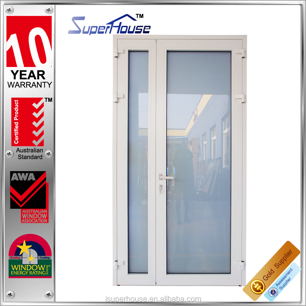AS2047 top quality aluminium glass double entry casement/french/hinge doors