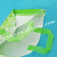 Customized patch handle/soft loop handle plastic shoppers