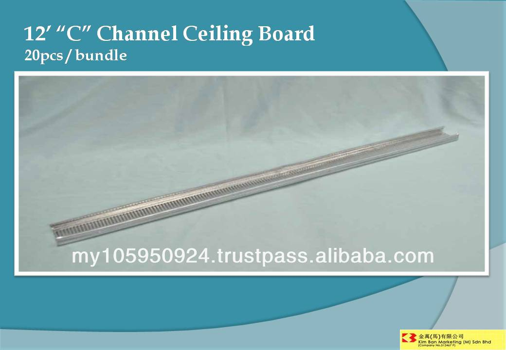 "12' ""C"" Channel Ceiling Board"