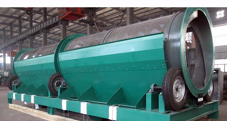 Large output separating different sizes of crushed stone quarry Rotary Drum Trommel Screen
