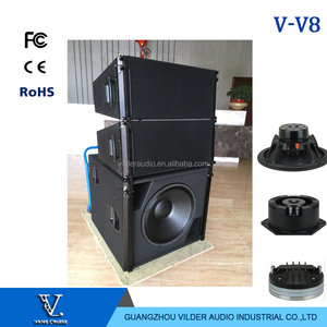 Vilder audio big power top line array V8 line array speaker outdoor live concert show used dual 10 inch 3-way pa system