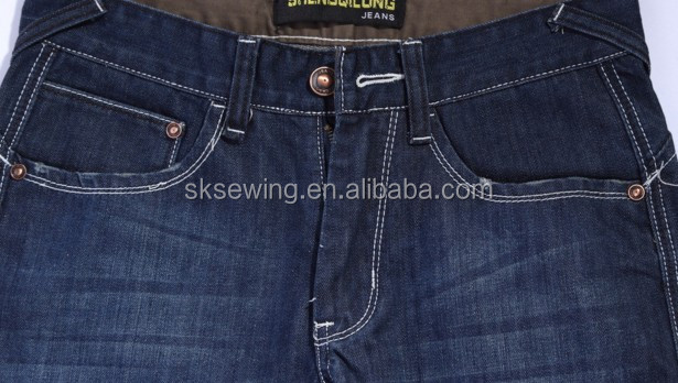 Trousers pants jean J stitch industrial automatic pattern sewing machine