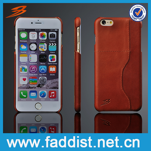 6S case Credit Card Slots genuine Leather Back Cover Cases For Iphone6 plus