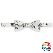 Wholesale fashion neckwear handsome adjustable boy bowtie kid necktie baby anime printed baby bow ties