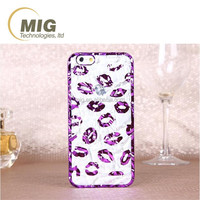 Cute lips tinfoil material mobile phone case for samsung note 5 wholesale cute lips phone case & cover for samsung s2 and note 4