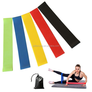 "PMS color 12"" custom logo printing resistance loop exercise band set"