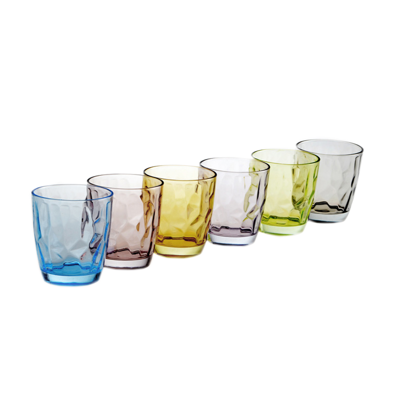 Wholesale hand blown crystal colored glass beer cup