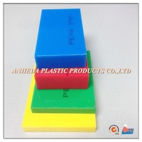 White/black/red/yellow/green/blue HDPE plastic solid sheet