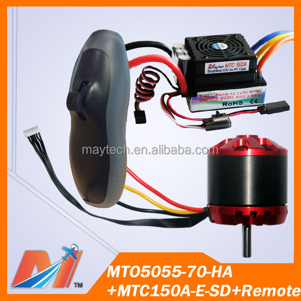 Maytech Free Shipping for sensored motor 5055 70KV and longboard remote control and 150A skateboard esc(3 items)