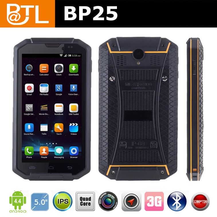 WDF BATL BP25 New ip67 tough military android 4.4 smart mobile phone
