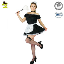Halloween carnival party cheap sexy maid dress french maid costume