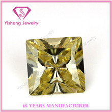 Crystals CZ Stone Yellow Cubic Zirconia Pricess Cut Diamonds for Jewelry