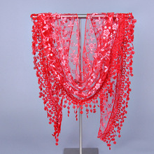 Cheap lace triangle scarf wholesale lady shawl