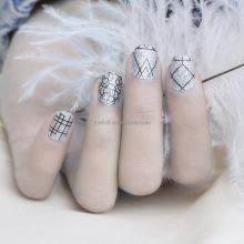 MELODI high quality nail vinyls strips, cheap nail sticker like real polish