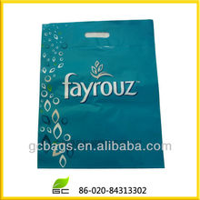 Plastic bag with patches handle for big chain stores