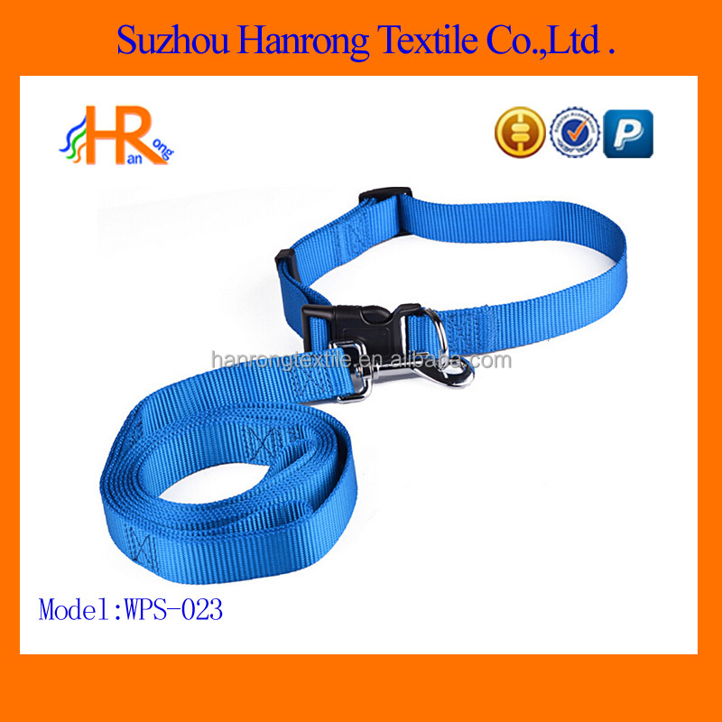 Dog collars and leash of nylon webbing