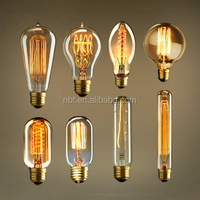 Hot Sell T30-185 Tubular Edison Bulb 40W/60W Long Vintage Edison Bulb E27