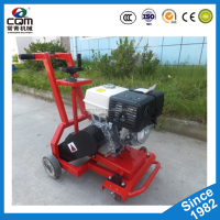 Road pavement crack router grooving machine with asphalt