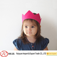 Custom Cheapest felt children princess crown wholesale on alibaba