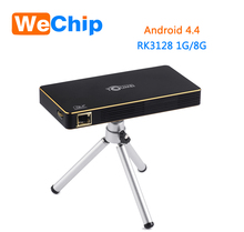 Wechip Portable Intelligent Projector C800 Android 4.4.4 Cpu Rk3128 1g 8g Wifi 2.4g+5g Dual-band Bluetooth 854*480 Smart Beamer